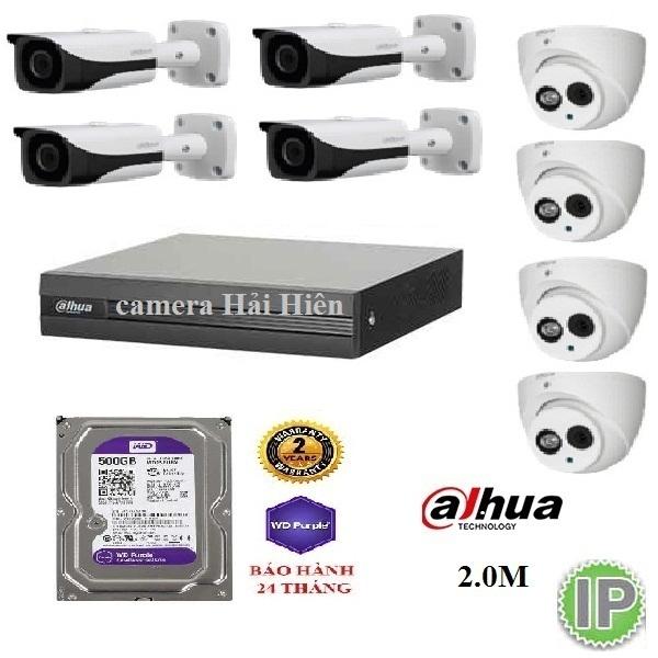 8 mắt camera IP dahua