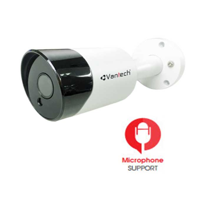 camera-ip-bullet-3mp-vantech-vp-2200ip-m-tich-hop-microphone